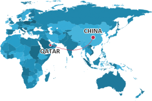 Shipping from china to qatar